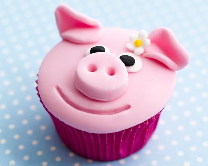 Sweet Pig Cupcake