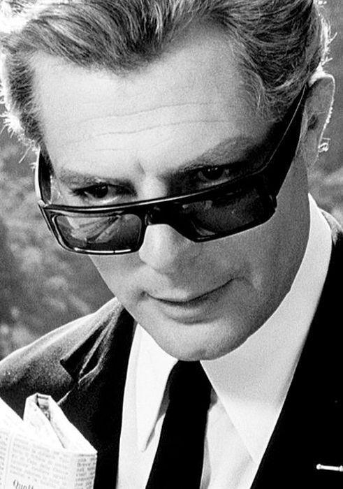 """#MarcelloMastroianni in """"Otto E Mezzo"""" by #FedericoFellini 1963 -- #BlackTie"""