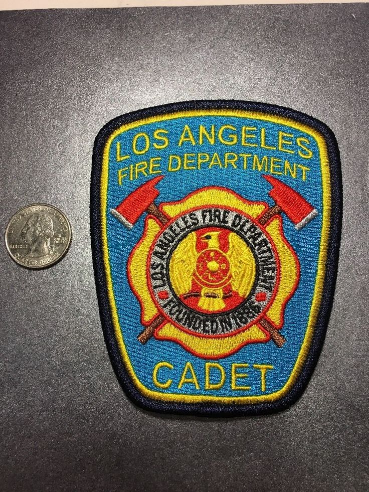 Los Angeles California Fire Department Cadet Firefighter Paramedic Patch Ca