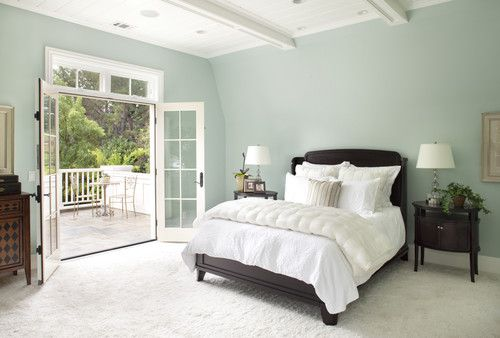This Is The Color Scheme I Want Dark Furniture Celadon Colored Walls White