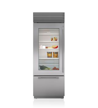 "Sub-Zero 30"" Built-In Over-and-Under Glass Door Refrigerator/Freezer  BI-30UG/S"