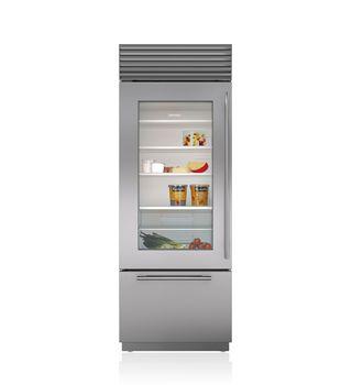 """Sub-Zero 30"""" Built-In Over-and-Under Glass Door Refrigerator/Freezer  BI-30UG/S"""
