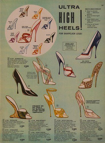 Vintage Hollywood advertisement - my grandmother wore THE HIGHEST heels. I believe she was 5'5 if that, and my granpa was 6'5, but the 2 of they always looked so classy.