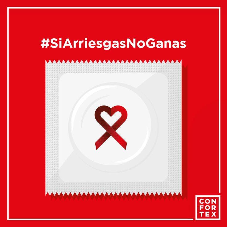 Día 1 de diciembre, #DiaMundialVIH2016. En Confortex nos sumamos a esta campaña de concienciación y prevención contra el VIH/SIDA. ¿Cómo lo hacemos? Protegiéndoos. Entre todos los que compartan esta foto en su muro, sortearemos todo un año de condones Confortex en dos campañas contra el VIH/SIDA a través de nuestra cuenta de Facebook (@confortexcondom) y Twitter (@confortexcondom). Para que practiques sexo seguro y no corras ningún riesgo, porque ya sabes, #SiArriesgasNoGanas ❤