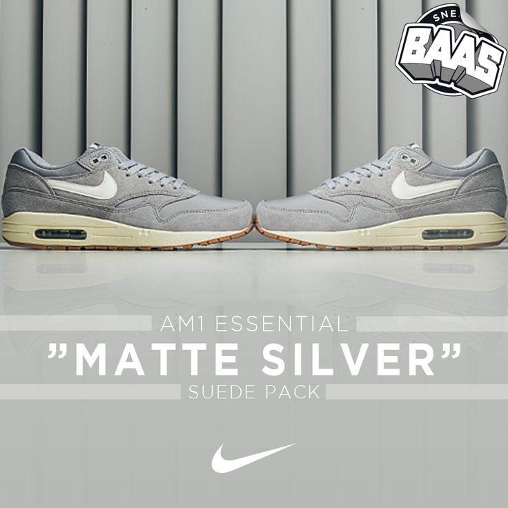 "Nike AM1 Essential ""Matte Silver"" | Now online! | www.sneakerbaas.nl | #BAASBOVENBAAS #NIKE #AM1 #SNEAKERBAAS | 537383-015"