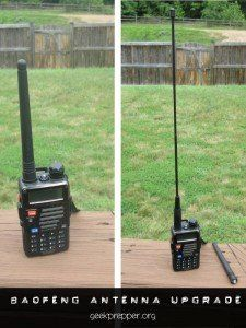 "BaoFeng Antenna Upgrade | Geek Prepper: ""Handheld HAM radios are great since they are small and portable, but you may find yourself needing to extend their range. A BaoFeng Antenna upgrade might be exactly what you need."" 