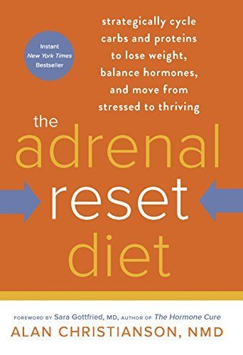 The Adrenal Reset Diet: Strategically Cycle Carbs and Proteins to Lose Weight, Balance Hormones, and Move from Stressed to Thriving by Alan Nmd Christianson, http://www.amazon.com/dp/B00LKJHUAI/ref=cm_sw_r_pi_dp_aYcmvb0ZJ14GN