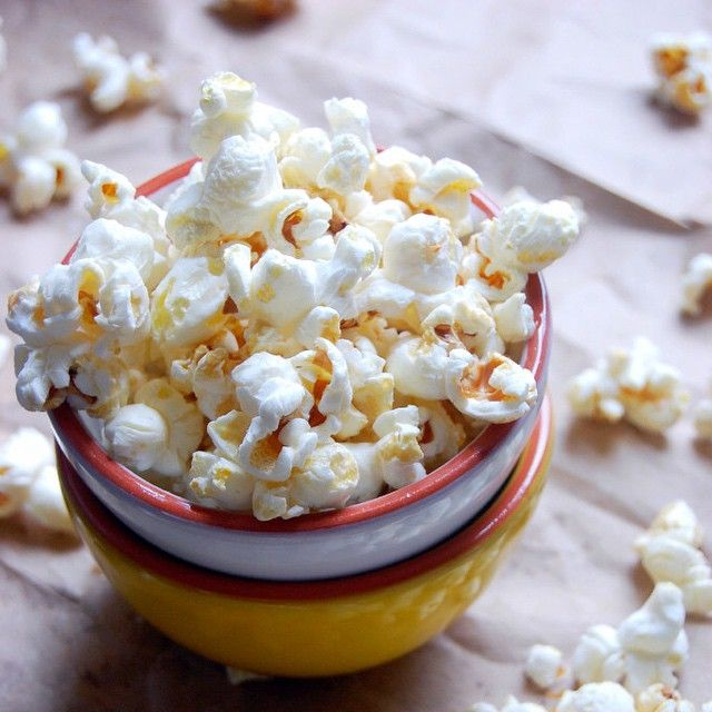 Maple And Sea Salt Popcorn  via @feedfeed on https://thefeedfeed.com/uprootkitchen/maple-and-sea-salt-popcorn