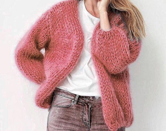 Mohair cardigan 22 colors Wool Cardigan Hand knitted mohair cardigan Oversized Cardigan loose fit cardigan