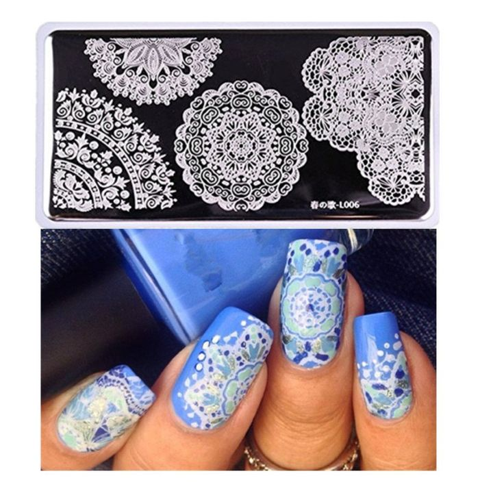 1220 best nail art equipment images on pinterest nail art born pretty rectangle nail art stamp template lace design image plate l006 no30337 prinsesfo Images