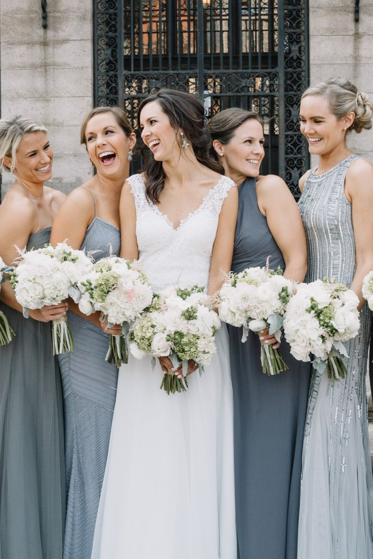 58 best bridesmaid dresses images on pinterest bridesmaid gifts mismatched bridesmaids in grey for a city wedding ombrellifo Choice Image