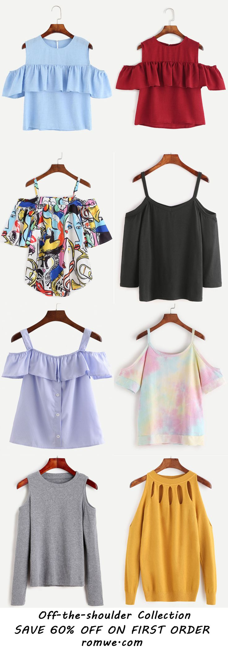 Sexy Off the Shoulder Clothing - romwe.com