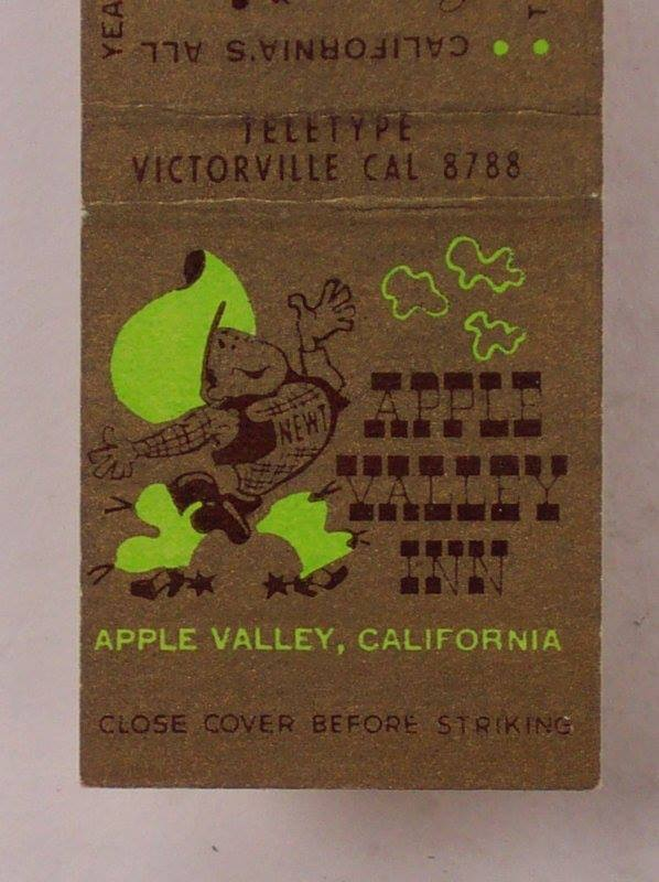 8 best apple valley ca images on pinterest apple apples and apple apple valley inn matchbook cover featuring big newt malvernweather Image collections