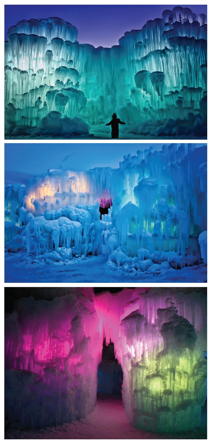 Ice Castles, Silverthorne, Colorado - Built by hand and made from more than 20,000,000 pounds of ice, the Ice Castles are READY to be explored!