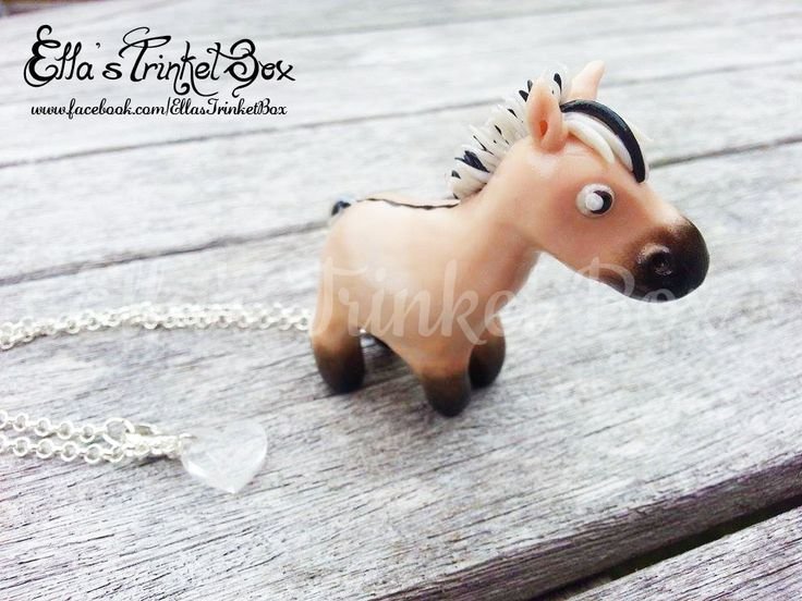 Handmade Fjord Horse Necklace  Available at www.facebook.com/EllasTrinketBox