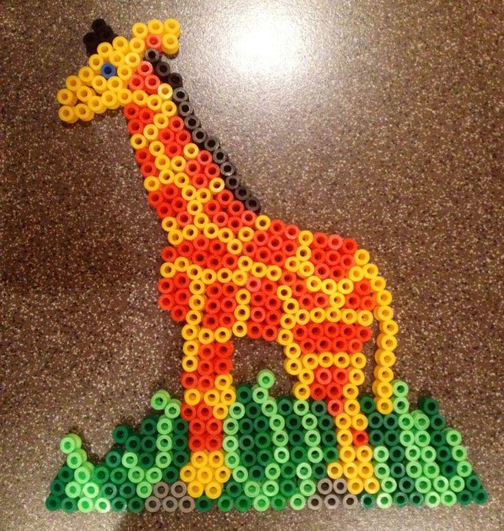 Giraffe hama perler beads by Alice -Vickan