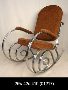 Bentwood Style Chrome Upholstered Rocking Chair  $450 on eBay