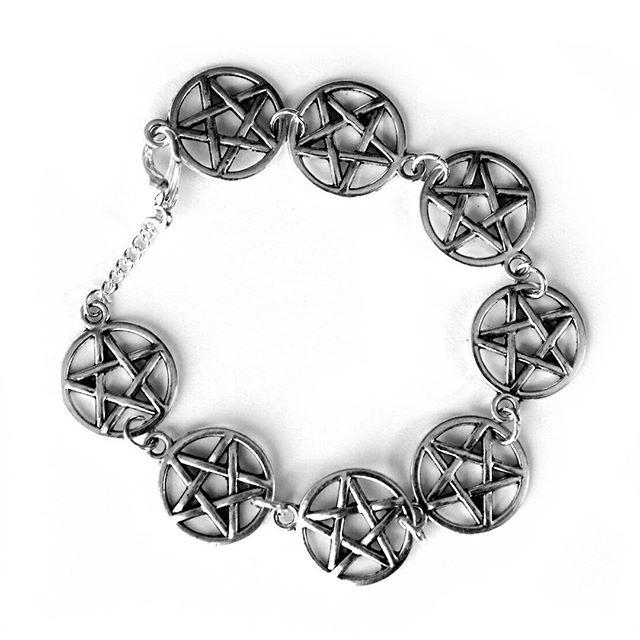 CRMC X Magpie Til I Die Pentagram Bracelet. Hand crafted with love & limited edition while stocks last.  Shop now at www.crmc-clothing.co.uk | WE SHIP WORLDWIDE  #braceletsofig #bracelet #kitsch #diy #handmade #jewelry #jewellery #bracelets #pentagram #witch #occult #braceletsforsale #occultjewellery #limitededition #awesome #tattooedgirl #tattooedwomen #metal #grungegirl #goth #gothgirl #fashion #alternative #alt #alternativefashion #alternativestyle #altgirl #occultist