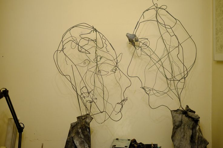 Michèle Baudet Shadow conversation piece Wire and led 2013