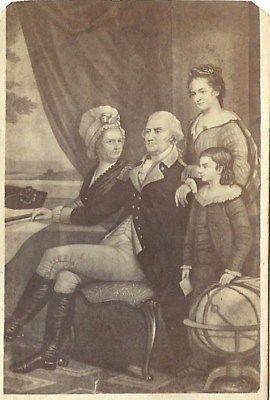 CDV PHOTO GEORGE WASHINGTON & FAMILY RARE 1860--1870