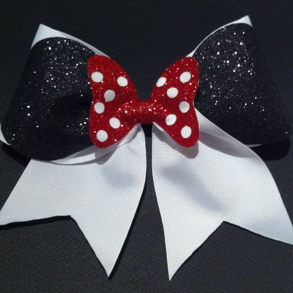 3in. Minnie Mouse Cheer Bow by BowsByTeri on Etsy