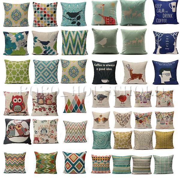 Animal Geometric Home Decor Sofa Throw Pillow Cases Car Cushion Cover