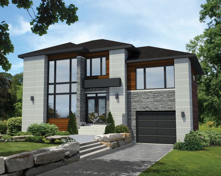 Beautiful Soft Tones, Pure Lines, Noble Materials U2013 Here Is An Urban Style Two Storey  House That Combines Elegance And Functionality. The Home Is 42 Feet 10  Inches ...