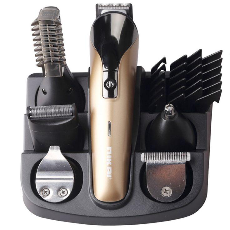 nikai Professional Hair Trimmer 6 In 1 Hair Clipper Shaver Sets Electric Shaver Beard Trimmer Hair Cutting Machine  NK-1711