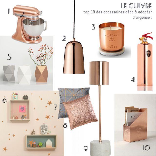 Le cuivre : Top 10 des accessoires déco | En direct du blog