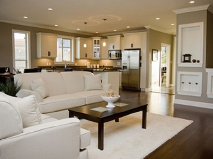 Get Good Intimacy With Open Kitchen Floor Plan Nice And Living Room White Couch Hell No