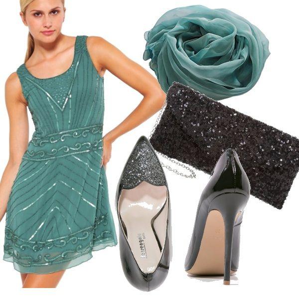 Stupendo+vestito +elegante+in+colore+verde+smeraldo+in+abbinamento+ho+messo+la+stola+in+seta 401df3b3555