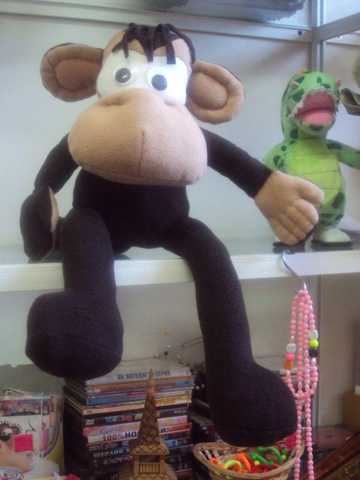 Моя работа. обезьянка-Мариша.с удовольствием выполню на заказ. цена-1200р+ пересылка почтой.