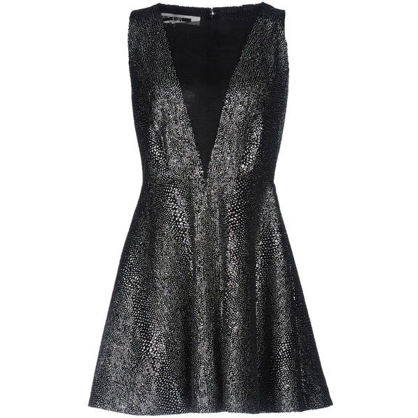 Mcq Alexander Mcqueen Short Dress ($550) ❤ liked on Polyvore featuring dresses, black, sequin mini dress, short sequin dress, pattern dress, sequined dresses and print dresses