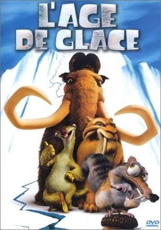 L'Âge de glace ou L'Ère de glace au Québec (Ice Age), est un film d'animation américain de Chris Wedge et Carlos Saldanha, sorti en 2002.  C'est le premier opus de la série de films L'Âge de glace. Il est suivi par L'Âge de glace 2 en 2006 , L'Âge de glace 3 en 2009, L'Âge de glace 4 en 2012 et L'Âge de glace 5 en 2016   https://fr.wikipedia.org/wiki/L%27%C3%82ge_de_glace