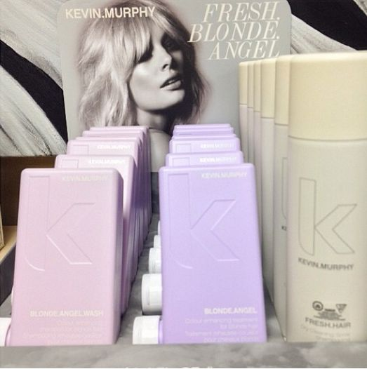 More KM Holiday in salon. With Fresh Blonde Angel you receive a FREE Fresh Hair with the purchase of a Blonde Angel Wash and Rinse! #km #kevinmurphy #blondeangel #holiday2013 #melangesalonspa#melange #melangesalonandspa #organic #ecofriendly #yeghair #yegbeauty #yeg #edmonton #peta #leapingbunny #crueltyfree