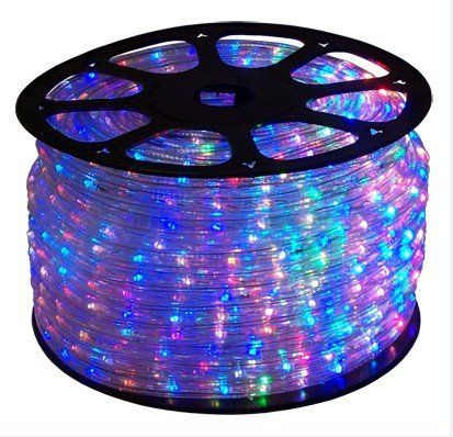 1391 best christmas rope lights images on pinterest rope cbconcept 120vlr66ftrgb 66 feet rgb redgreenblue color changing 110v120v 4wire 34 flat led rope light christmas aloadofball Choice Image