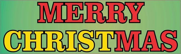 StickerTalk® Brand 10in x 3in Merry Christmas Christ Vinyl Bumper magnet Car magnets