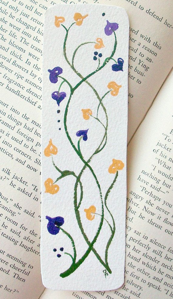 Bookmark Original Watercolor Art Hearts by TheExpressivePalette, via Etsy.