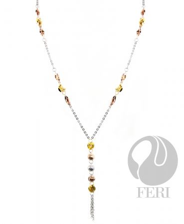 FERI Fine Sterling Silver Dancing Beauty Necklance