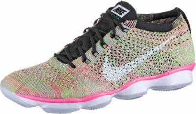 Nike Flyknit Zoom Agility Fitnessschuhe Damen pink/grün -