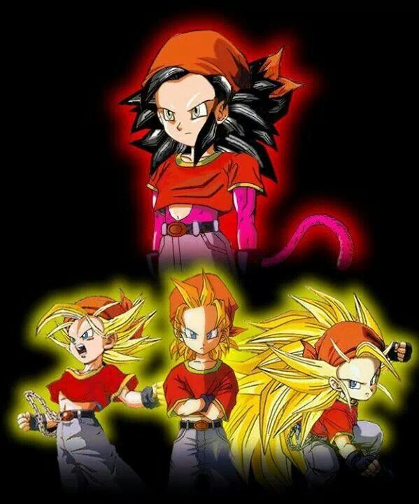 I like how Pan looks just super saiyan....the hair looks awesome, as well SS2. She looks ok in SS4, but SS3 looks better.....just my opinion.