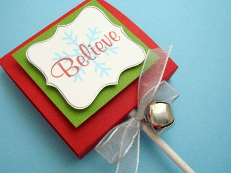 christmas favors | Etsy Item of the Day: Believe Christmas Lollipop Favors