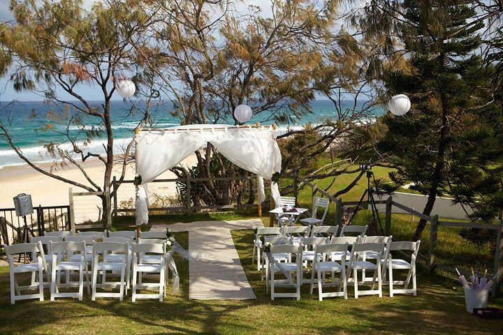 Ocean Lawn at the Sunshine Beach Surf Club - wedding ceremony