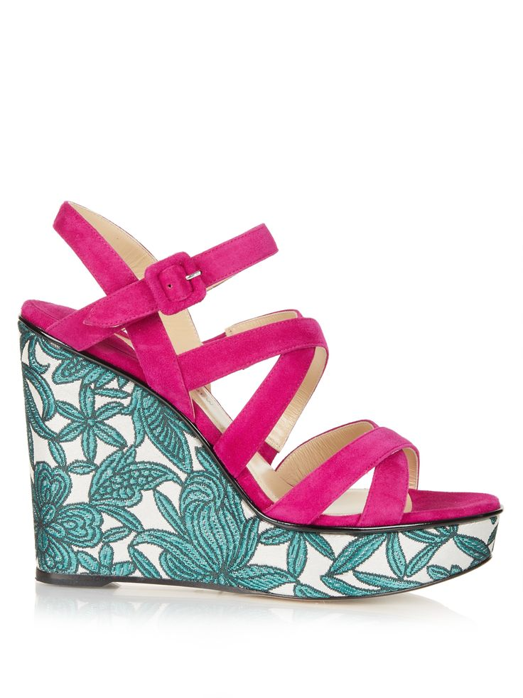 Click here to buy Paul Andrew Lotus suede wedge sandals at MATCHESFASHION.COM