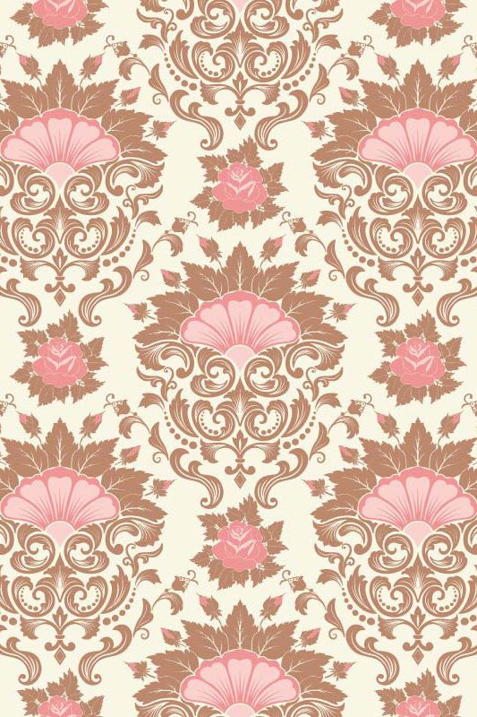 Fondo crema con diseño en tonos rosa y tierra rojizo