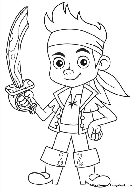 Jake And The Neverland Pirates Coloring Page Pirate Coloring Pages Disney Coloring Pages Disney Coloring Sheets