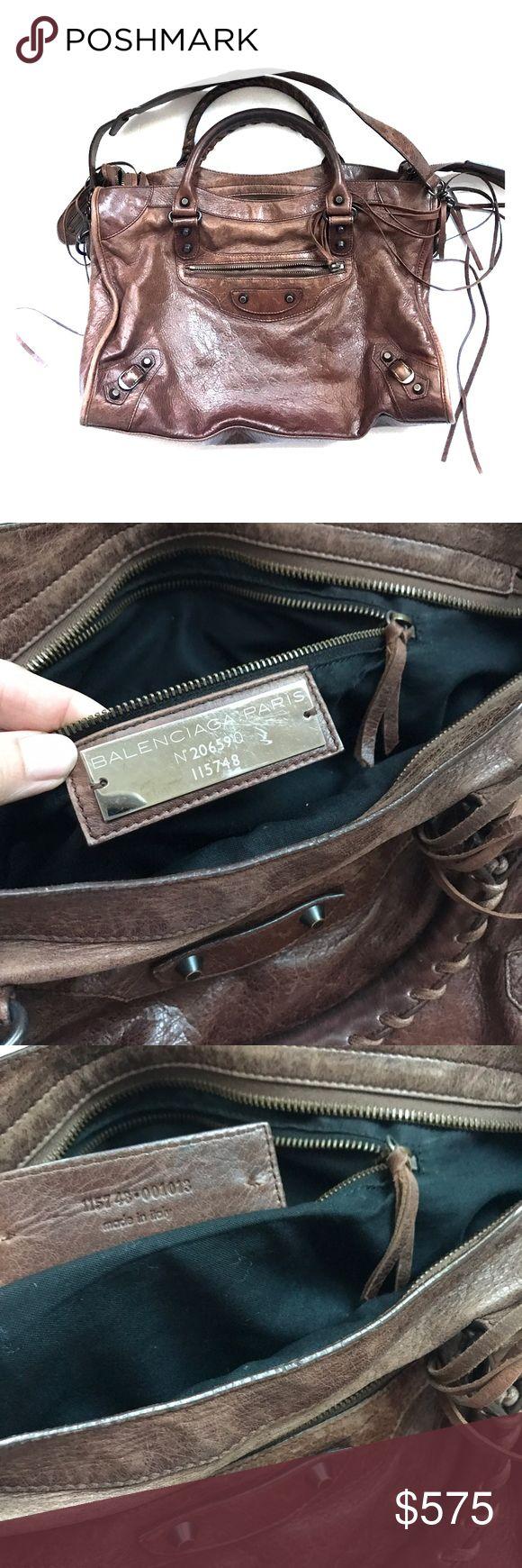 Balenciaga handbag brown leather Classic Balenciaga in excellent condition, comes with dust bag Balenciaga Bags