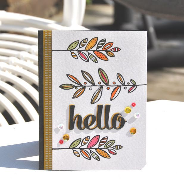 Lighthearted leaves, Hello, Stampin up