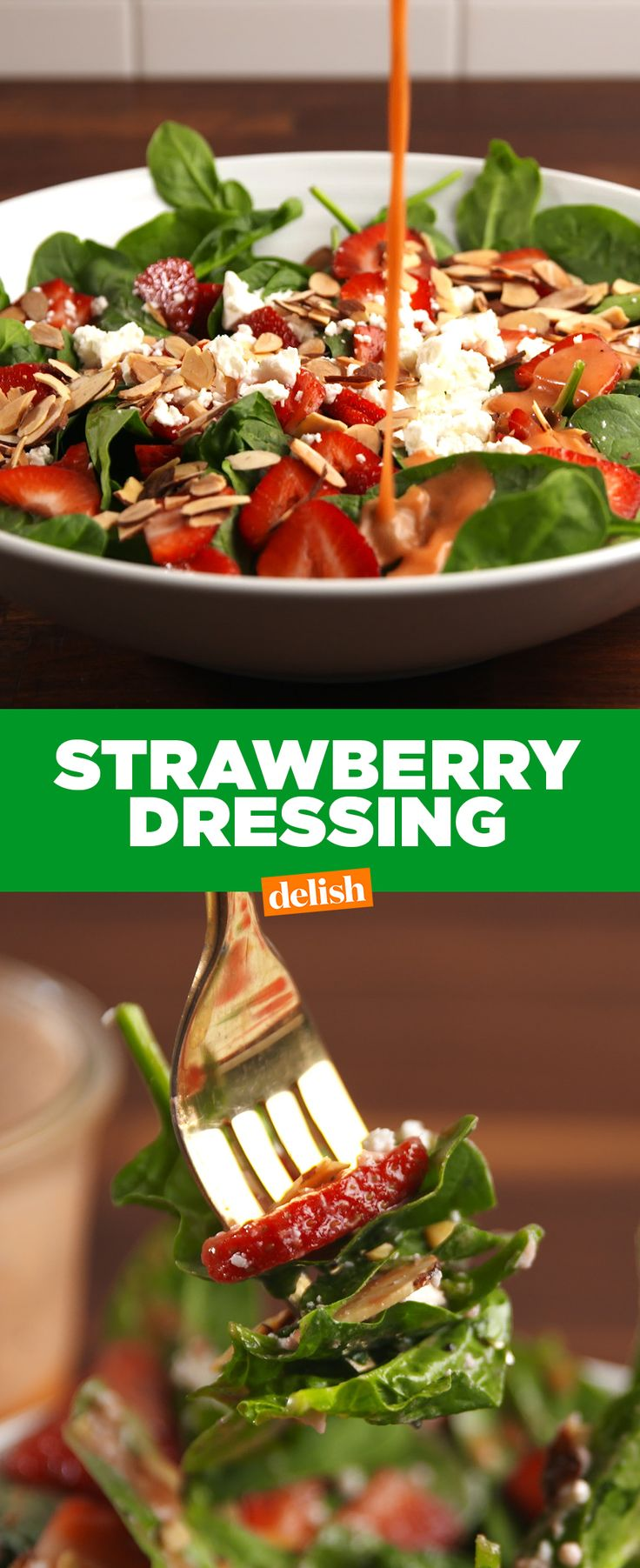 If you love Panera's Strawberry Dressing, you're gonna be OBSESSED with this one. Get the recipe at Delish.com.