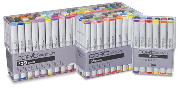 The choice of professionals worldwide, the Copic marker offers outstanding performance in all areas of design and illustration. Two versatile tips produce a range of strokes from fine lines to wide color fills. The roll-proof flat barrel is filled with alcohol based ink for a long life.